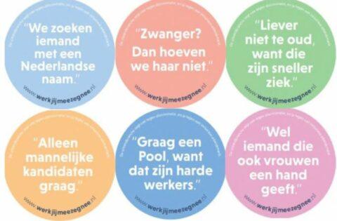 Stickers campagne Werk jij mee, zeg nee